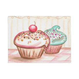 Kitchen Bakery Cupcake Rug Doormat