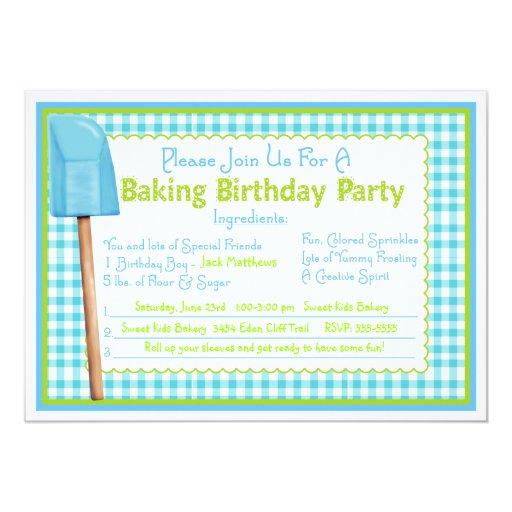 Kitchen Baking Birthday Invitations | Zazzle