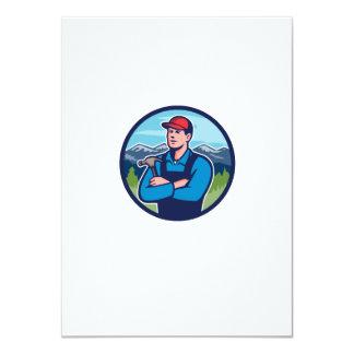 Kitchen Bathroom Remodeler Builder Circle Retro Card