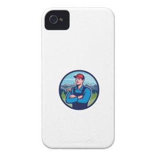 Kitchen Bathroom Remodeler Builder Circle Retro iPhone 4 Case