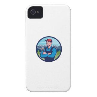 Kitchen Bathroom Remodeler Builder Circle Retro iPhone 4 Case-Mate Case