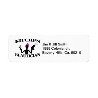Kitchen Beautician At Home Stylist Return Address Label