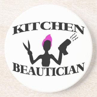 Kitchen Beautician At Home Stylist Sandstone Coaster