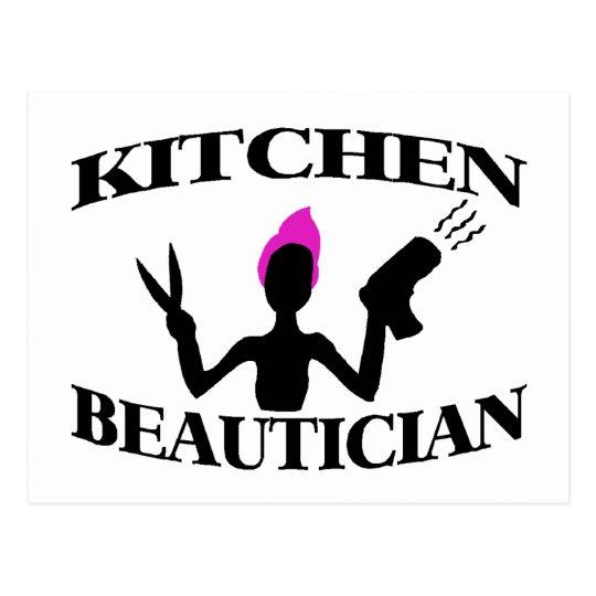 Kitchen Beautician Postcard