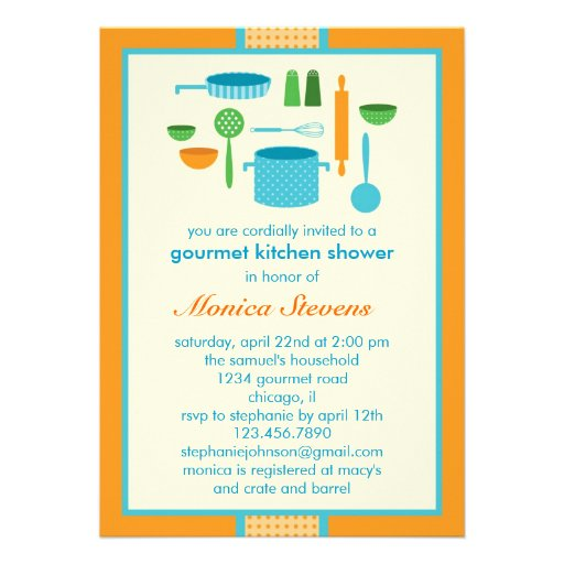 Kitchen Bridal Shower Invitations for your inspiration to make invitation template look beautiful