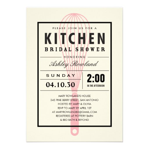 Kitchen Bridal Shower Invitations absolutely amazing ideas for your invitation example