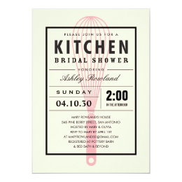 Kitchen theme bridal shower invitations announcements zazzle kitchen bridal shower invitations filmwisefo Image collections