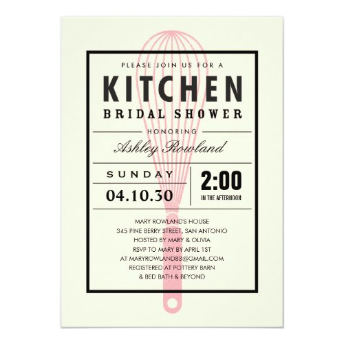 Kitchen themed bridal shower invitations webnuggetz kitchen bridal shower invitations 5 filmwisefo
