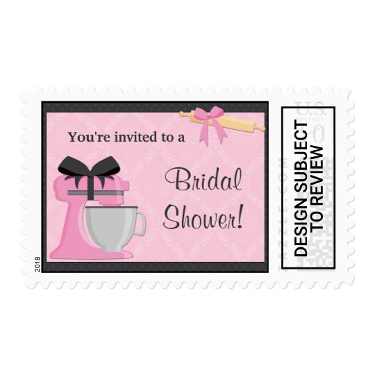 kitchen bridal shower postage stamp