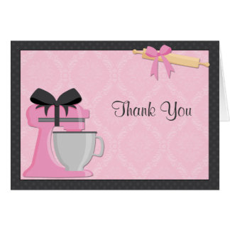 Kitchen Bridal Shower Thank You Greeting Cards