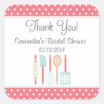 Kitchen Bridal Shower Thank You Stickers