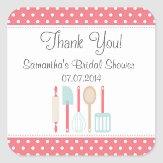 Kitchen Bridal Shower Thank You Stickers