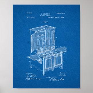 Kitchen Cabinet Patent - Blueprint Poster