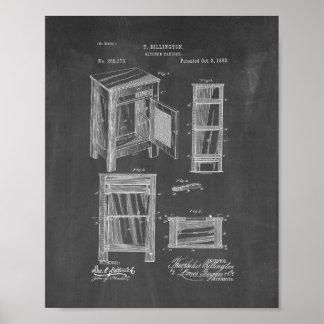 Kitchen Cabinet Patent - Chalkboard Poster