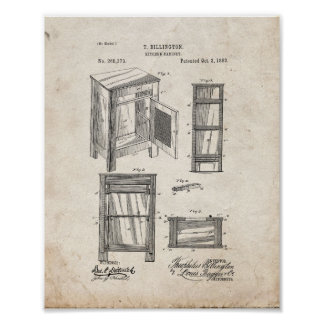 Kitchen Cabinet Patent - Old Look Poster