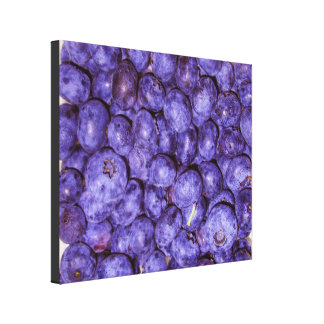 KITCHEN CANVAS-HEALTH-BLUEBERRIES-COLORFUL-ART CANVAS PRINT