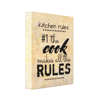 Kitchen Canvas Wall Art Humor Quote Sepia