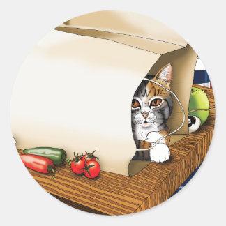 Kitchen Cat Classic Round Sticker
