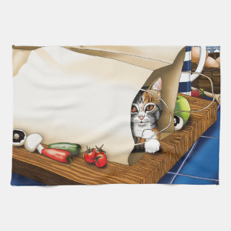 Kitchen Cat Hand Towel