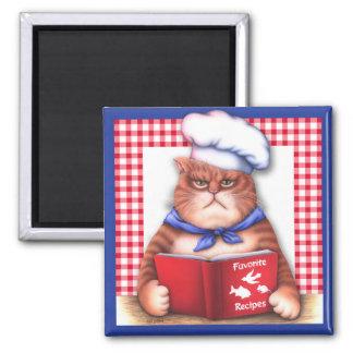 Kitchen Cat Magnet