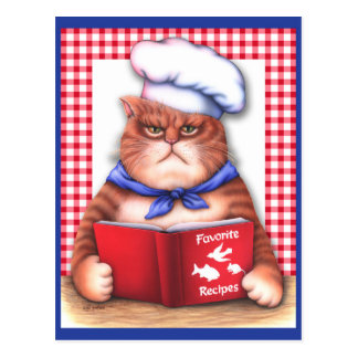 Kitchen Cat Postcard