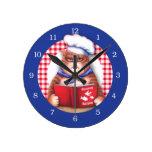 Kitchen Cat Round Wall Clocks
