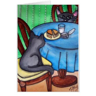 Kitchen Cats Dinner Card
