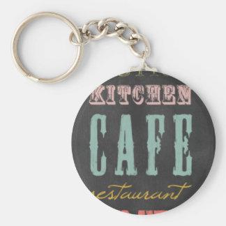 kitchen-chalkboard KITCHEN RESTAURANT DELI CAFE BI Basic Round Button Keychain
