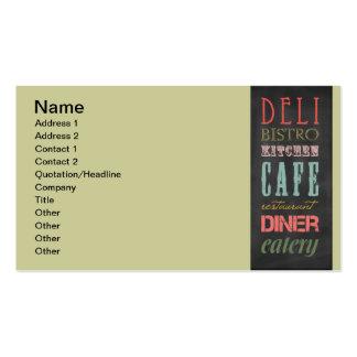 kitchen-chalkboard KITCHEN RESTAURANT DELI CAFE BI Business Card