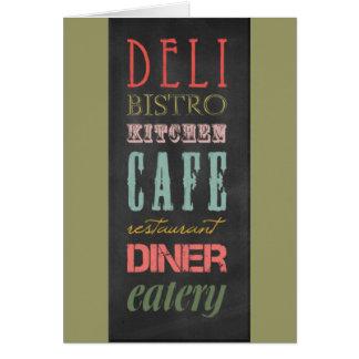 kitchen-chalkboard KITCHEN RESTAURANT DELI CAFE BI Card