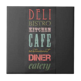 kitchen-chalkboard KITCHEN RESTAURANT DELI CAFE BI Ceramic Tile