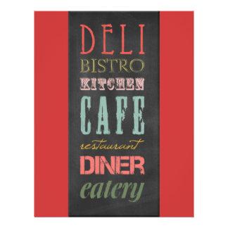 kitchen-chalkboard KITCHEN RESTAURANT DELI CAFE BI Flyer Design