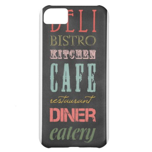 kitchen-chalkboard KITCHEN RESTAURANT DELI CAFE BI iPhone 5C Cover
