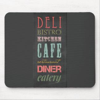kitchen-chalkboard KITCHEN RESTAURANT DELI CAFE BI Mouse Pad