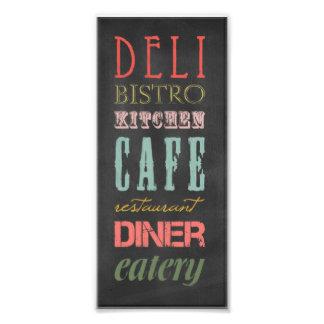 kitchen-chalkboard KITCHEN RESTAURANT DELI CAFE BI Photo Print