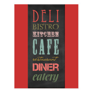 kitchen-chalkboard KITCHEN RESTAURANT DELI CAFE BI Postcard