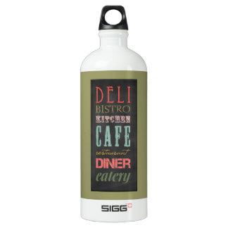 kitchen-chalkboard KITCHEN RESTAURANT DELI CAFE BI Water Bottle