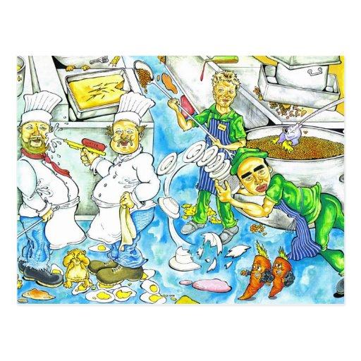 Kitchen Chaos Postcard