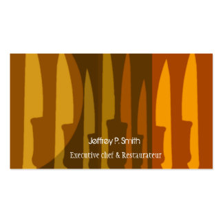 Kitchen Chef Knife Business Cards