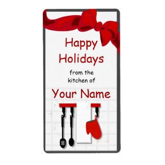 Kitchen Chef Utensils Gift Label