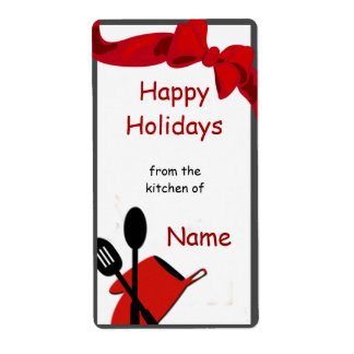 Kitchen Chef Utensils Icon Gift Label Shipping Label