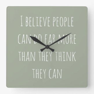 Kitchen clock with sweet inspirational text