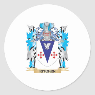 Kitchen Coat of Arms - Family Crest Round Sticker