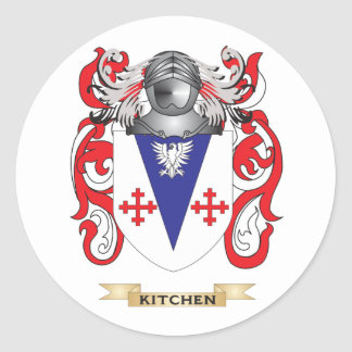 Kitchen Coat of Arms (Family Crest) Round Stickers