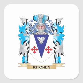 Kitchen Coat of Arms - Family Crest Square Sticker