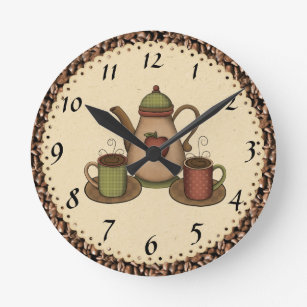 Attirant Kitchen Coffee Clock