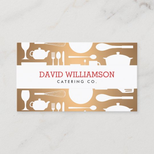 25 letterpress business card designs with cool creativity catering kitchen collage on faux copper for chef catering business card reheart Image collections
