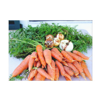 Kitchen collection carrots onions photograph art canvas print