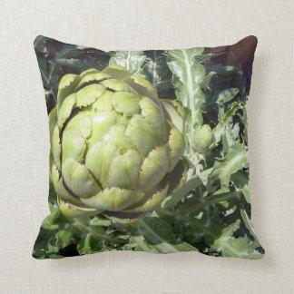 Kitchen collection organic artichoke photo art pillow