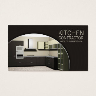 Kitchen Contractor Cabinetry Carperntry Brown Card